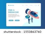 car dealer isometric website...   Shutterstock .eps vector #1553863760