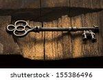 Old Ornate Skeleton Key On...