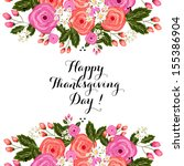 thanksgiving season al design... | Shutterstock .eps vector #155386904