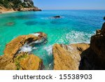 gorgeous mediterranean beach | Shutterstock . vector #15538903