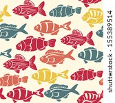 vector fish seamless pattern | Shutterstock .eps vector #155389514
