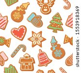 christmas seamless background.... | Shutterstock .eps vector #1553918369