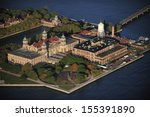 Aerial View Of Ellis Island ...