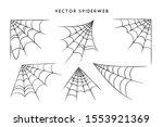 vector illustration of a cobweb ... | Shutterstock .eps vector #1553921369