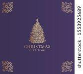christmas abstract vector...   Shutterstock .eps vector #1553925689
