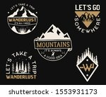 vintage mountain camp logos ... | Shutterstock .eps vector #1553931173
