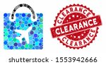 mosaic duty free shopping and... | Shutterstock .eps vector #1553942666