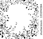 black music notes isolated on a ... | Shutterstock . vector #155394584