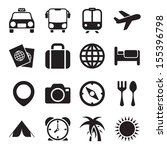 travel icons | Shutterstock .eps vector #155396798