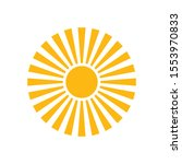 sun logo can be used for... | Shutterstock .eps vector #1553970833