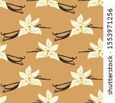 seamless pattern with vanilla... | Shutterstock .eps vector #1553971256