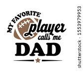 my favorite football player... | Shutterstock .eps vector #1553979953