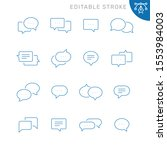 chat bubble related icons....   Shutterstock .eps vector #1553984003