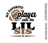 my favorite football player... | Shutterstock .eps vector #1553984960
