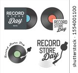 retro vinyl record store day... | Shutterstock . vector #1554001100