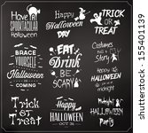 collection of typographic... | Shutterstock .eps vector #155401139