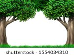 decorative frame vignette from... | Shutterstock .eps vector #1554034310