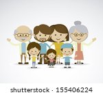 different families over gray... | Shutterstock .eps vector #155406224