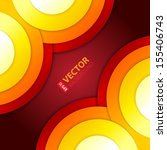 abstract red  orange and yellow ... | Shutterstock .eps vector #155406743