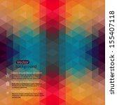 retro pattern of geometric... | Shutterstock .eps vector #155407118