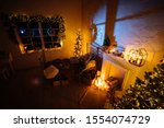 new year 2020 interior with... | Shutterstock . vector #1554074729