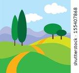 rural mountain landscape.