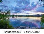 Coot Lake With A Colorful Sky...