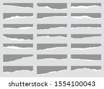 torn sheets of paper. set of... | Shutterstock .eps vector #1554100043