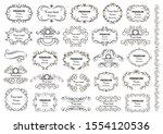 calligraphic design elements .... | Shutterstock .eps vector #1554120536