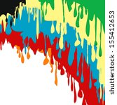 paint colorful dripping...   Shutterstock . vector #155412653