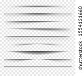 set of vector shadows on an...   Shutterstock .eps vector #1554131660