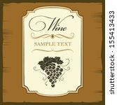 wine menu. labels for wine...   Shutterstock .eps vector #155413433