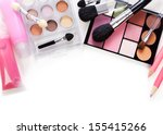 makeup brush and cosmetics  on... | Shutterstock . vector #155415266