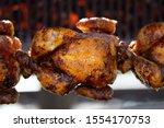 Roast Chicken On The Bbq  In...