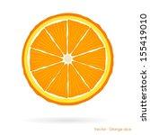 orange slice   vector | Shutterstock .eps vector #155419010