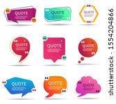 set of speech quote text box of ... | Shutterstock .eps vector #1554204866