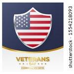 veterans day. vector... | Shutterstock .eps vector #1554218093
