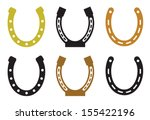 Stock vector set of horseshoe 155422196
