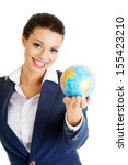 young smiling businesswomen... | Shutterstock . vector #155423210