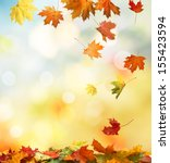 autumn background  | Shutterstock . vector #155423594