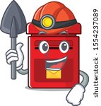 vector mailbox with a the miner ... | Shutterstock .eps vector #1554237089