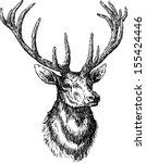 deer | Shutterstock .eps vector #155424446