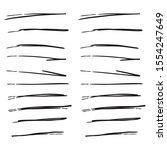 set of handmade  hand drawn...   Shutterstock .eps vector #1554247649