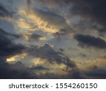 Dusky Clouds And Sky At Sunset