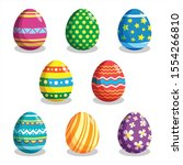 Set Of Colorful Easter Eggs...