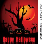 halloween background with full... | Shutterstock .eps vector #155427440