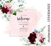 luxury fall flowers vector...   Shutterstock .eps vector #1554306503