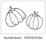 pumpkin silhouette  vector...   Shutterstock .eps vector #1554319166