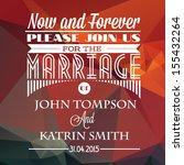 wedding invitation | Shutterstock .eps vector #155432264