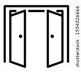 double door open outside icon.... | Shutterstock .eps vector #1554326666
